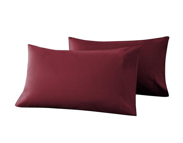 burgundy pillow cases