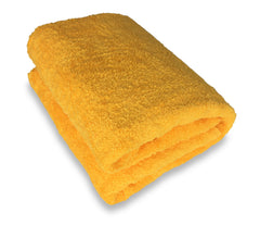 yellow bath sheet