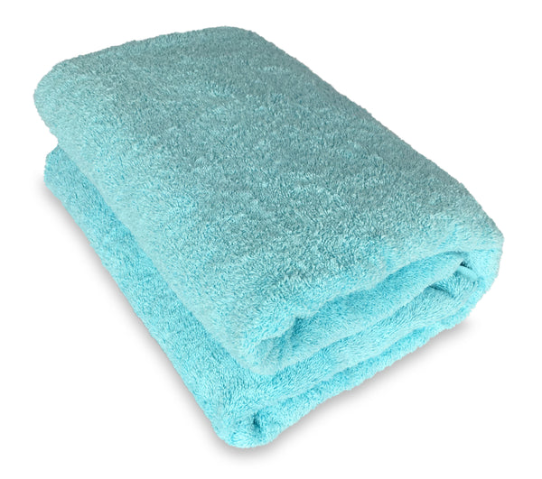 light turquiose bath sheet