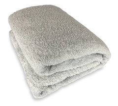 silver light grey bath sheet