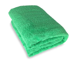 green bath sheet