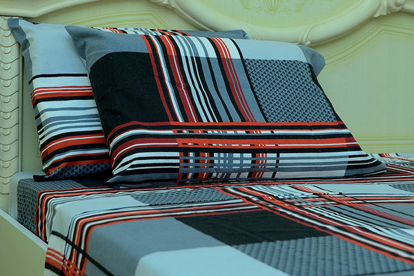Flannel Printed Bed Sheet Set