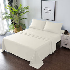 beige bedding set
