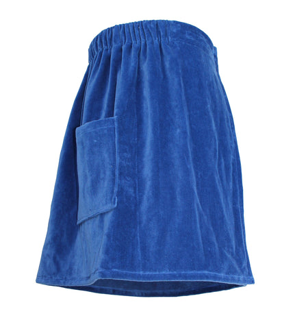 blue men's towel wrap