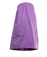 purple womens spa wrap