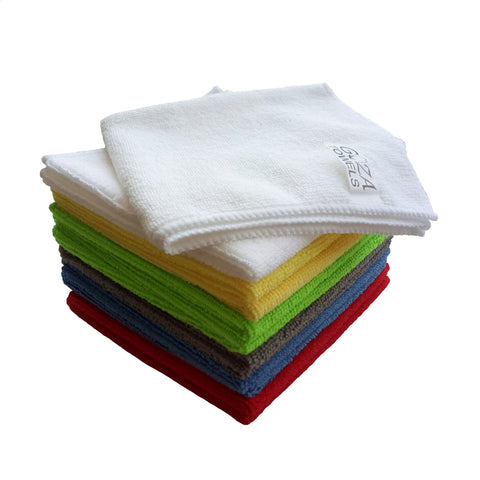 multi color microfiber towels
