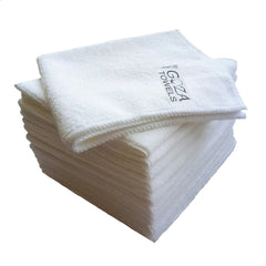 white microfiber towels