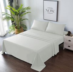 light grey bed sheets