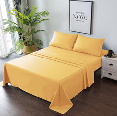 yellow bed sheets