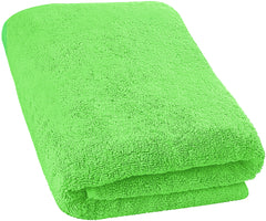 lime green bath sheet