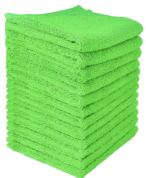 lime green wash cloth