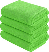 lime green hand towel