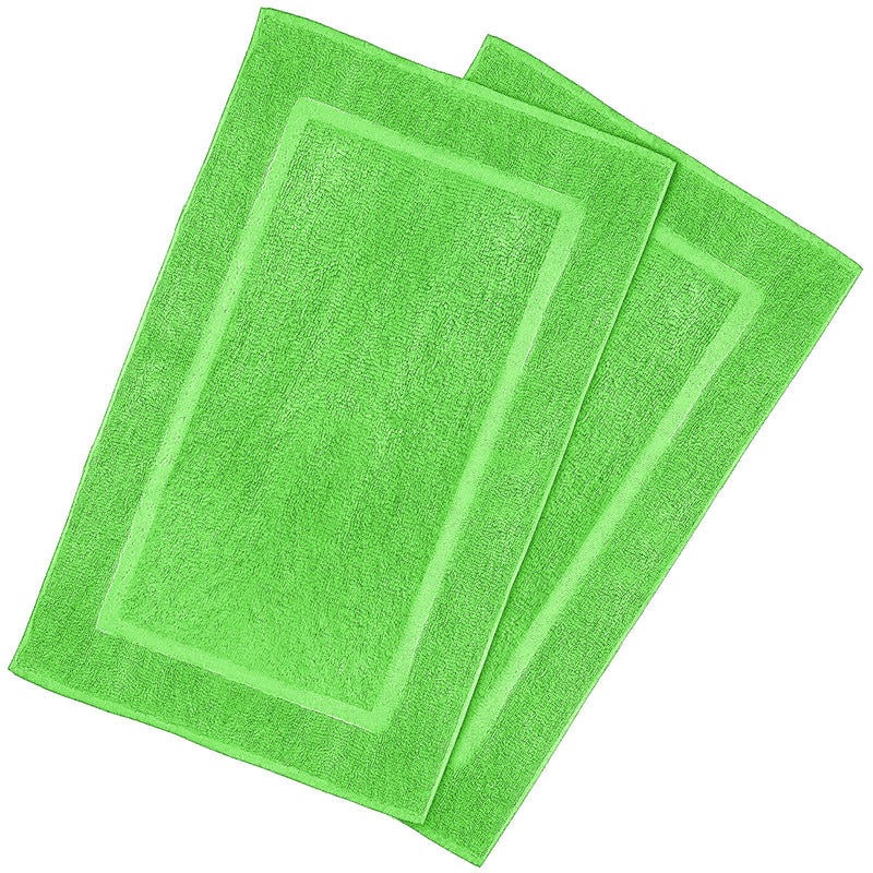 lime green bath mat