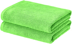 lime green bath towel