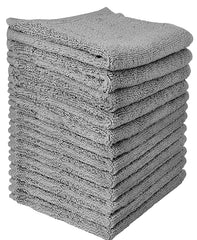 grey cotton washcloth