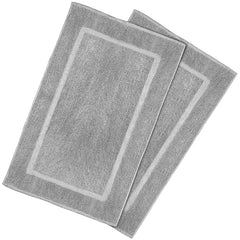grey bath mat