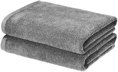 grey bath towel