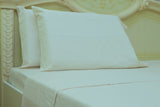 beige flannel flat sheet