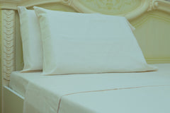 beige flannel pillowcases