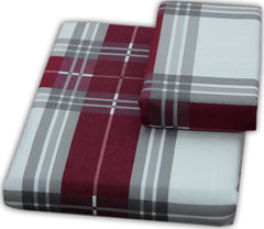 burgundy plaid flannel pillowcases
