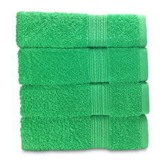 green hand towel