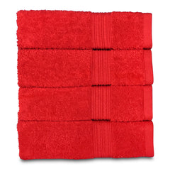 tomato red hand towel