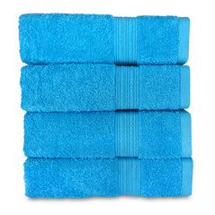 aqua blue hand towel