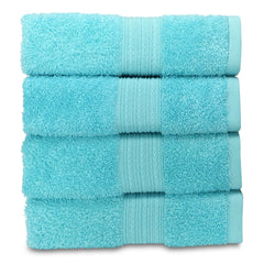 light turquiose hand towel