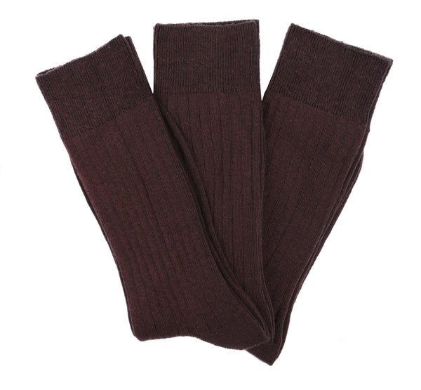Goza Socks Men's Cotton Blend and Ribbed Dress Socks