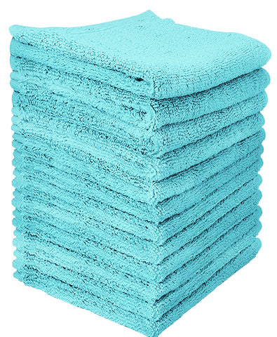 turquoise cotton washcloth