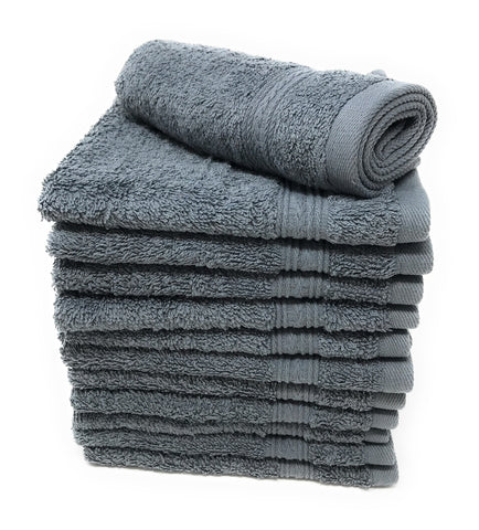 grey wash cloths