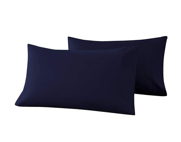navy blue pillow cases