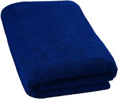 navy bath sheet
