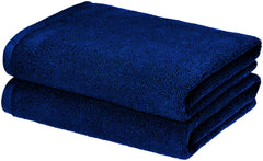 navy bath towel