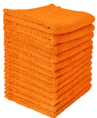 orange cotton washcloth
