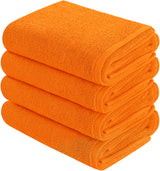 orange hand towel