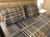 light blue plaid flannel sheets