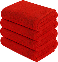 red hand towel