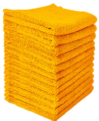 yellow washcloth