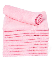 pink cotton wash cloth
