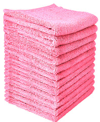 pink cotton washcloth