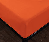 orange fitted sheet