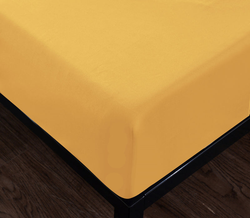 yellow fitted sheet