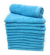 aqua cotton washcloth