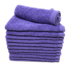 lavender purple washcloth