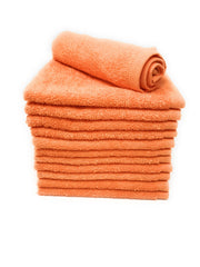 orange wash cloths
