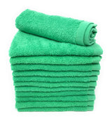 green washcloth