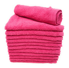 raspberry pink washcloths
