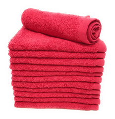tomato red wash cloth