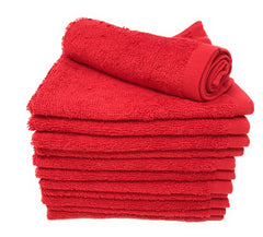 red wash cloths